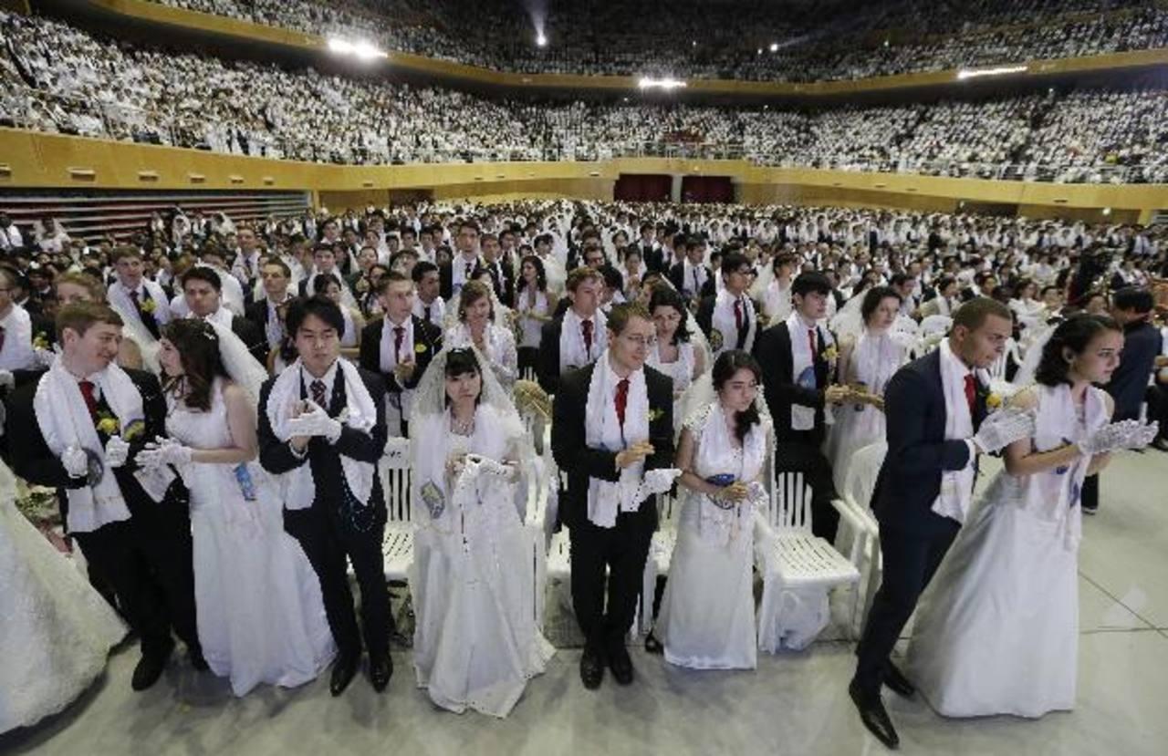 4 mil parejas se casan de una vez en Corea del Sur