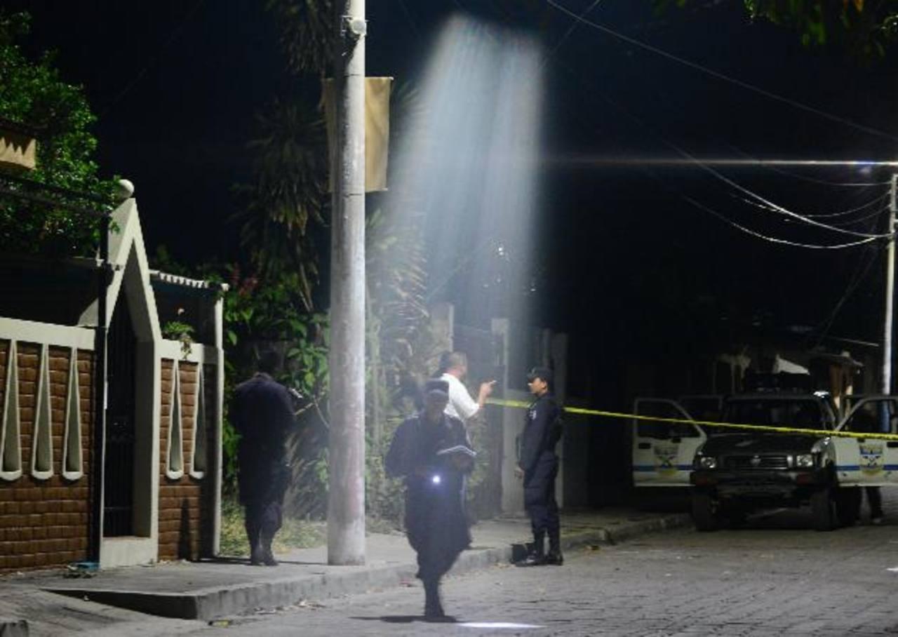 Lugar donde fue asesinado Francisco Mario Calvo, 75 años, en Apopa. Foto EDH / Miguel Villalta
