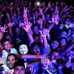Los asistentes al concierto no perdieron la oportunidad para descargar toda su adrenalina. fotos EDH / Marlon Hernández