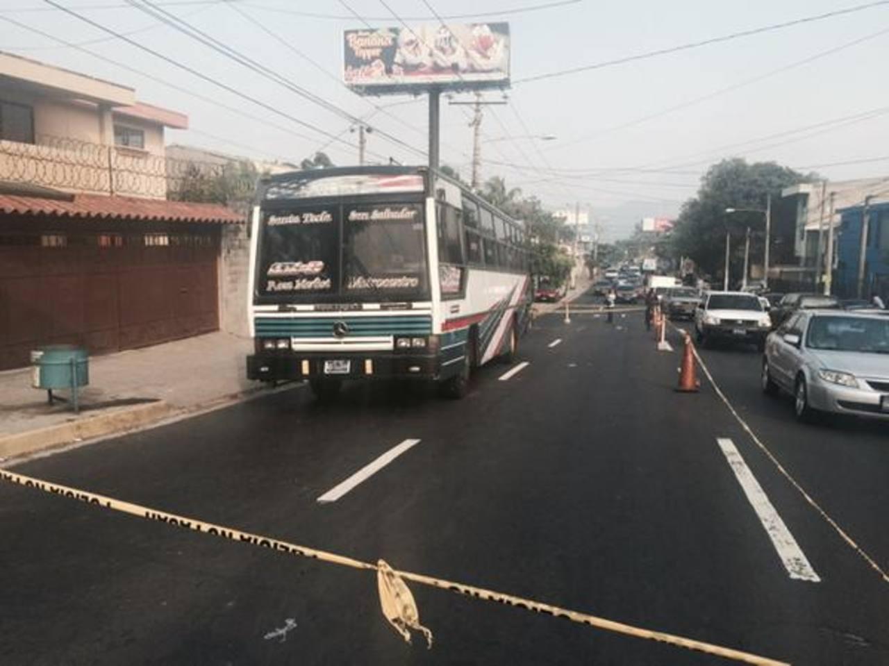 Lugar en donde mataron al pasajero de bus