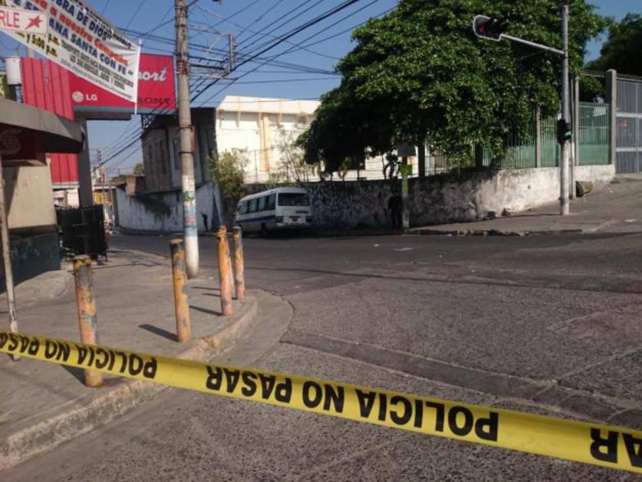 Escena de doble homicidio en Mejicanos. /