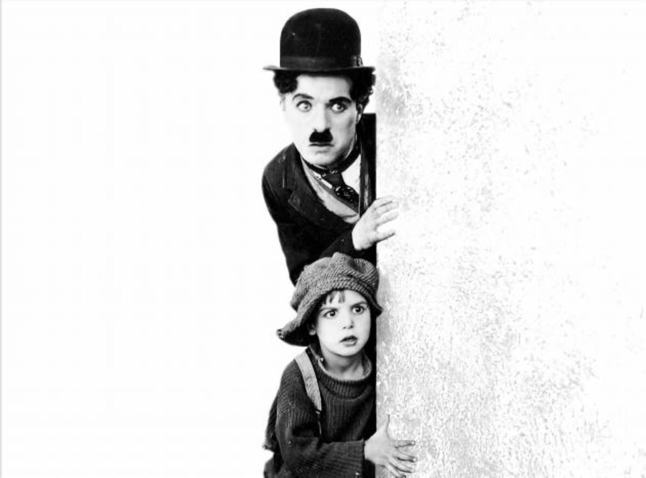 "Escena de la famosa película ""The Kid"" (1921)."