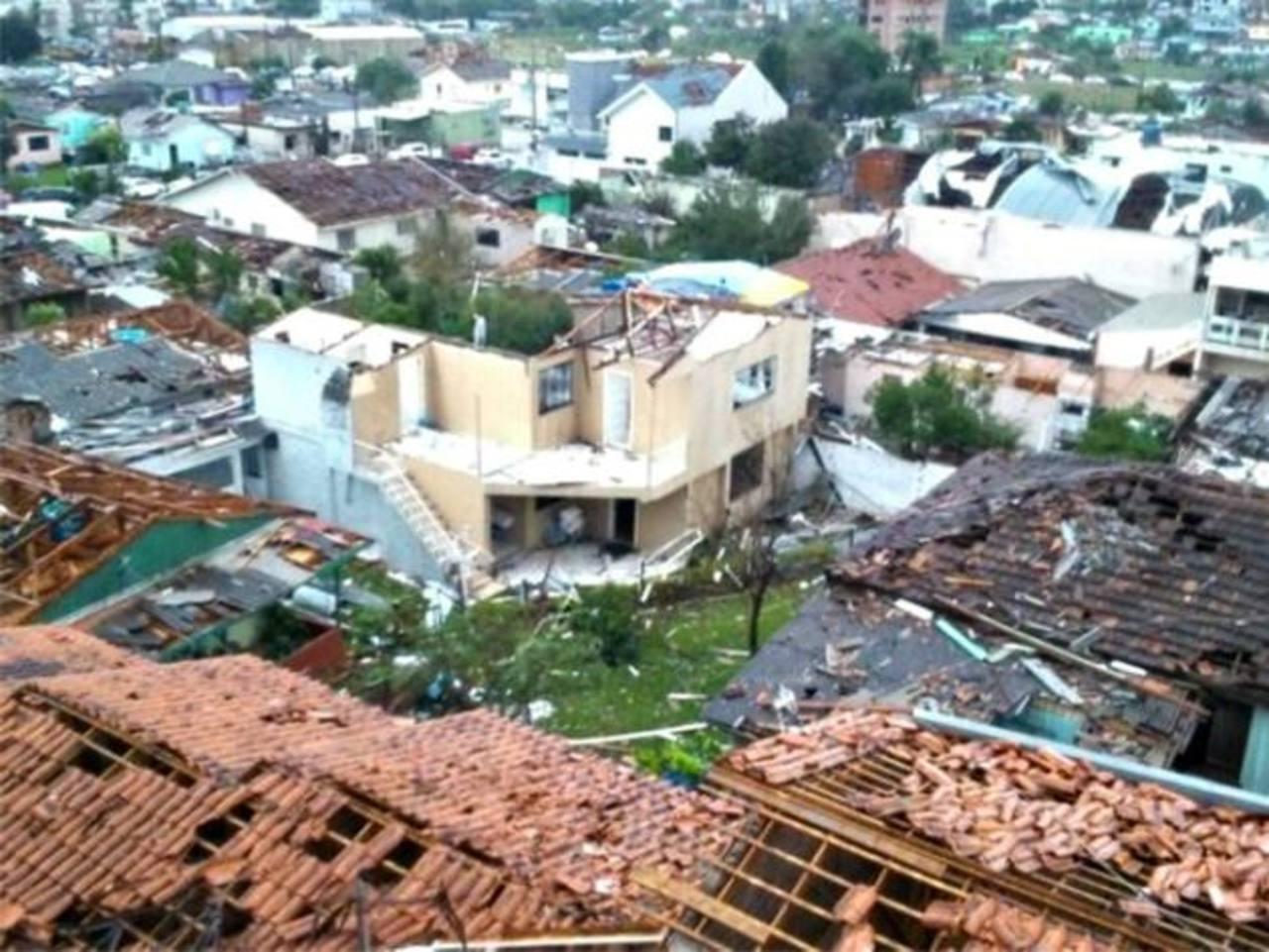 La ciudad brasileña de Xanxere, en el sureño estado de Santa Catarina, Brasil, donde dos personas murieron y hubo varias heridas durante un tornado registrado la tarde del lunes.