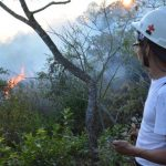 Cerro Tecapa pierde 100 manzanas de terreno por fuego
