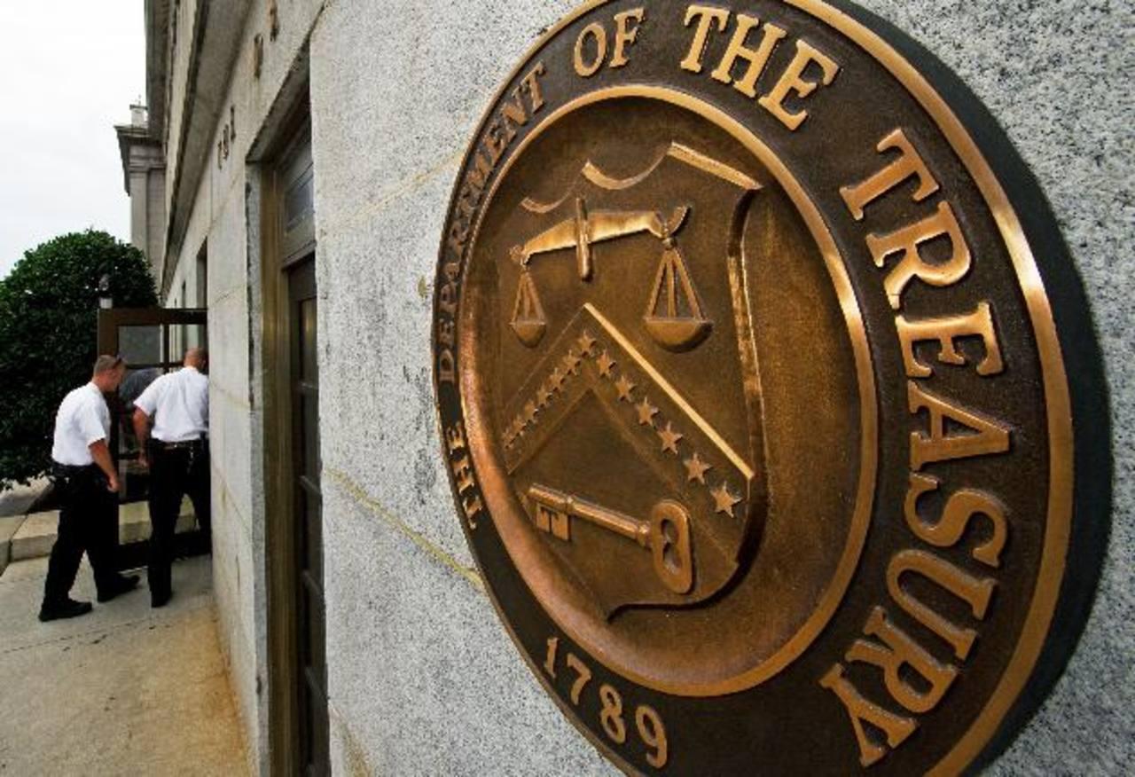 Imagen del exterior del Departamento del Tesoro de los Estados Unidos. Foto edh / internet
