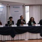 Representantes de Fusades, durante la presentación del estudio. Foto EDH/cortesía
