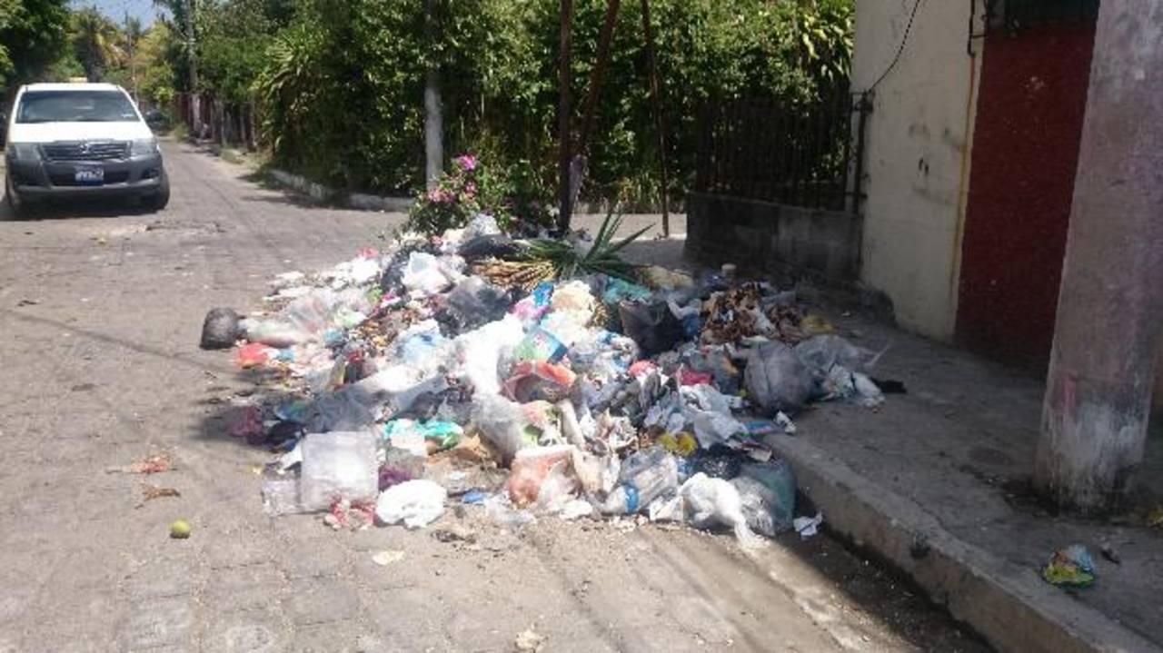 Este montón de desechos está al final de la calle principal norte. Fotos EDH / Nidia Hernández