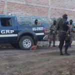 Escena de homicidio de agente en San Juan Opico. /