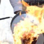 Video: Inventan extintor que apaga incendios con sonido
