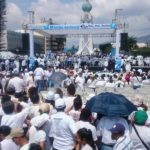 Cuatro de las marchas en la capital culminaron en la plaza Divino Salvador del Mundo.