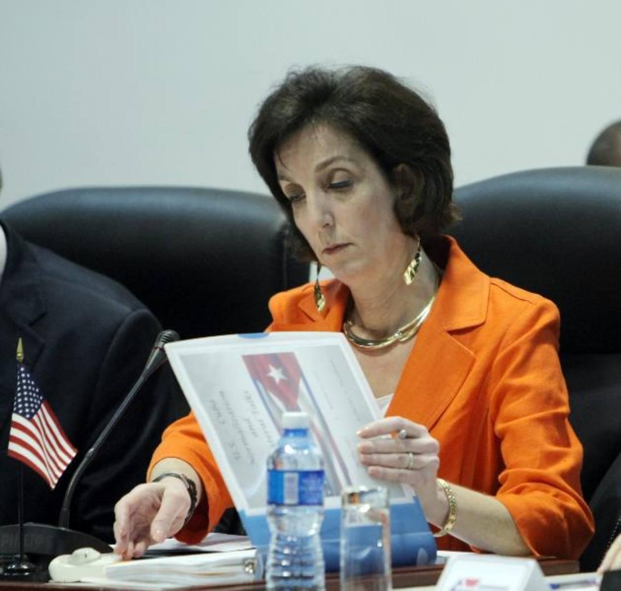 Roberta Jacobson en enero pasado, en el Palacio de Convenciones de La Habana (Cuba). foto EDH/Archivo