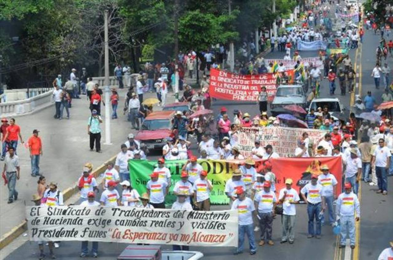 Sindicatos marcharán 1 de mayo independiente del partido en el gobierno