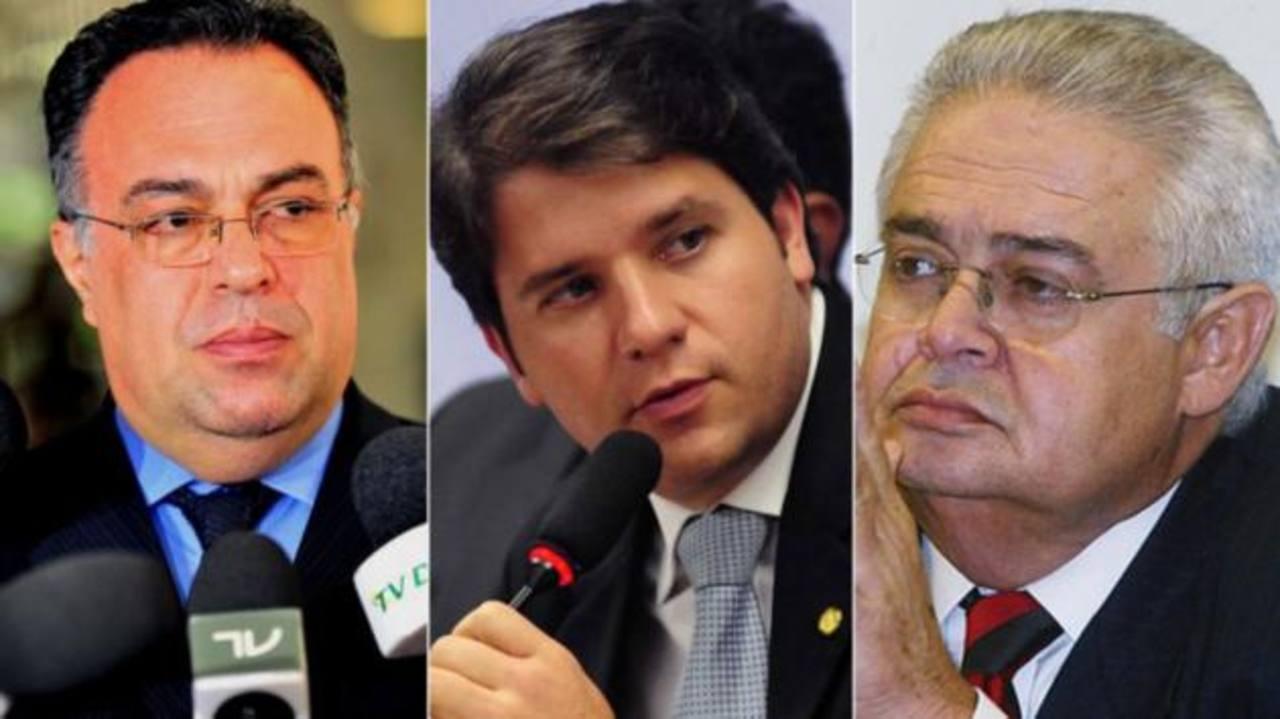 Los exdiputados André Vargas, Luiz Argolo y Pedro Correa se han convertido en los primeros legisladores presos. foto edh / Tomada del sitio web Infobae