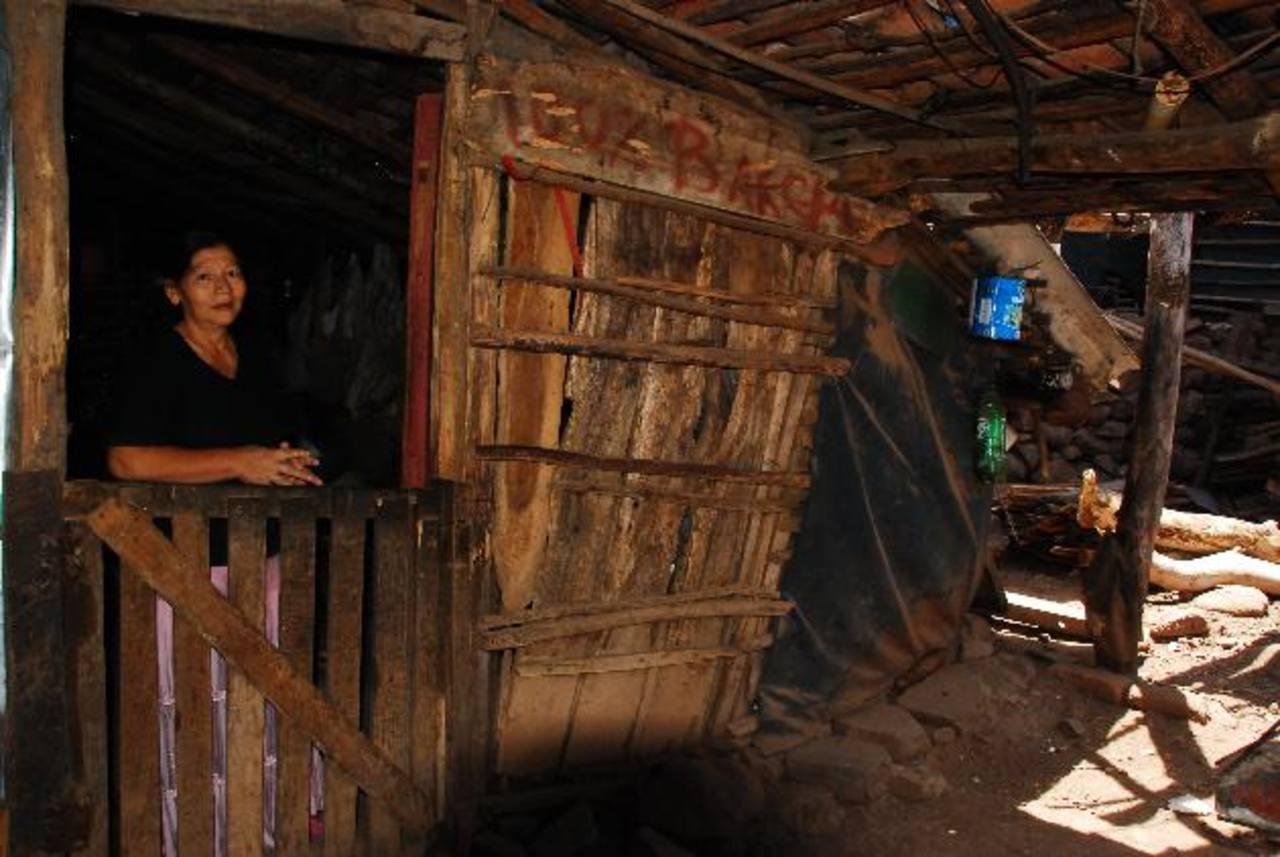 Son nueve familias que residen en la zona y que requieren de apoyo para reforzar sus casas. Foto EDH / Insy Mendoza