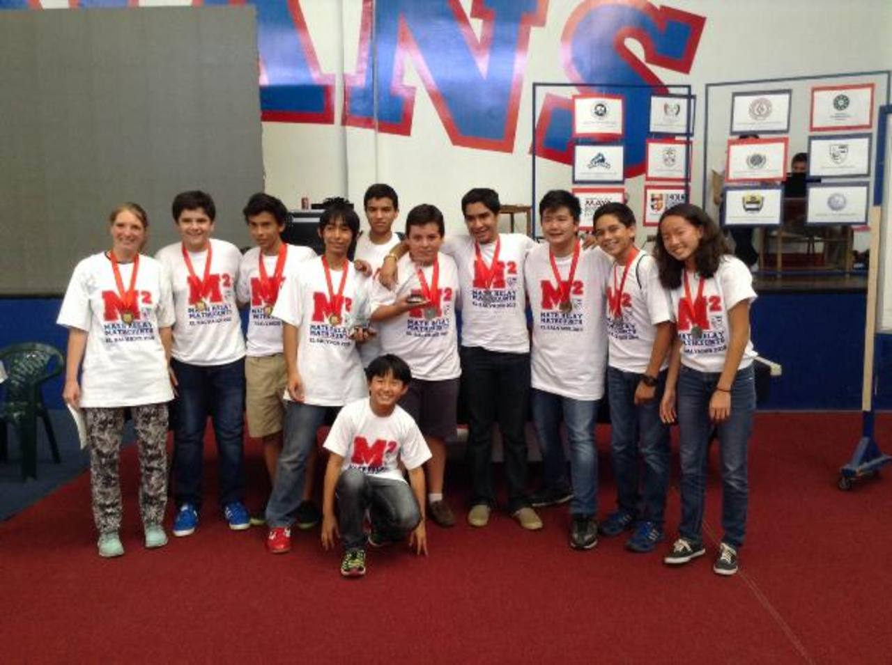 Grupo de estudiantes de la ABC ganadores en MATHCOUNTS. Ahora se disponen a viajar a México para medirse con estudiantes de ese país.fotoS edh / Omar Martínez
