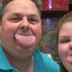 Padre e hija logran record mundial por la dimensión de sus lenguas
