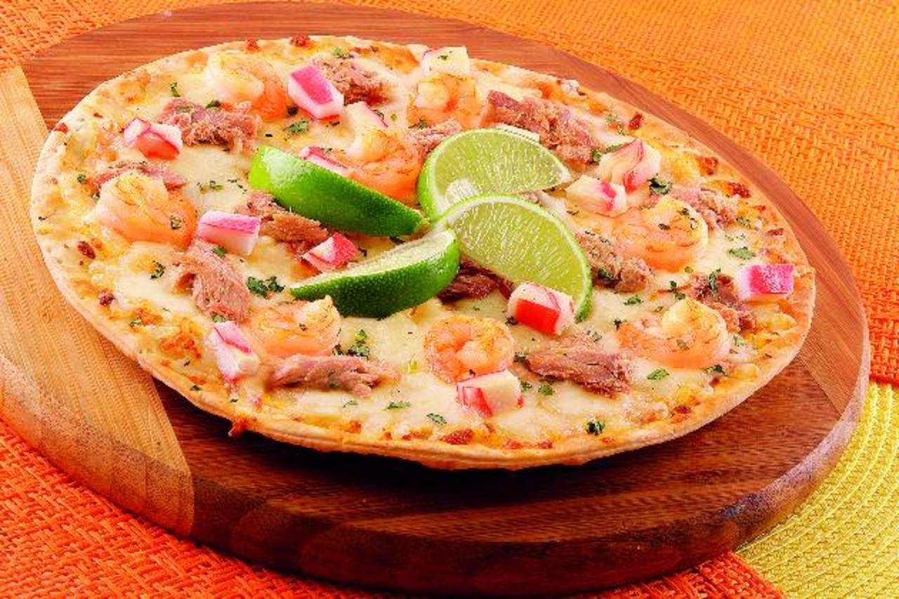 No te pierdas la pizza superpersonal marinera, mezcla de camarones y más. Foto EDH /Cortesía