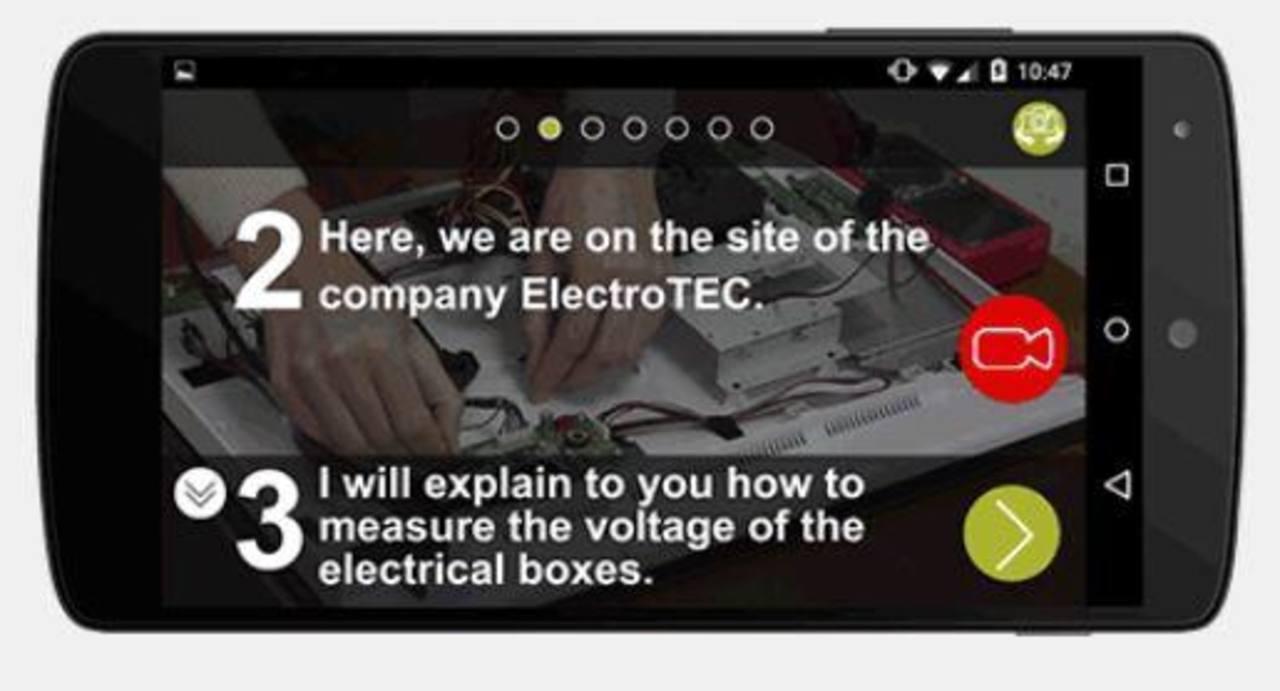La app está diseñada para secuenciar los conocimientos de una forma simple y trasmitirlos a los contactos.