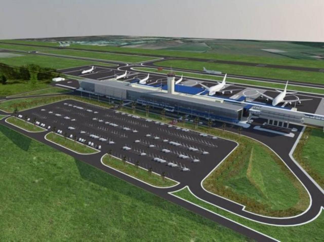 En la imagen, uno de los planos de ampliación del Aeropuerto Internacional El Salvador. Foto EDH