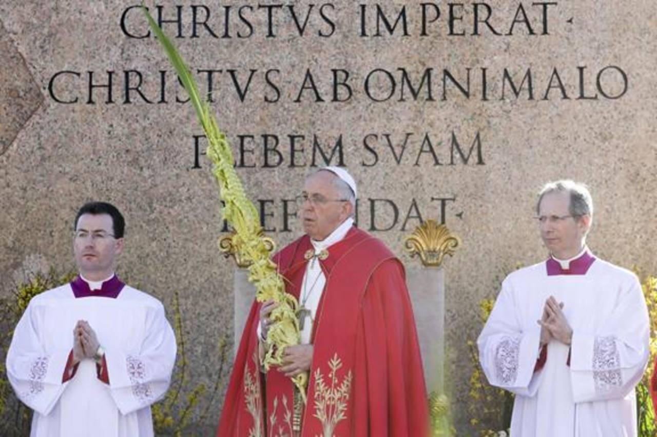 """El papa Francisco presidió ayer la tradicional celebración litúrgica del Domingo de Ramos. En su homilía, dijo: """"El estilo de los cristianos debe ser la humildad y el camino de Cristo no es el de la vanidad, el orgullo y el éxito""""."""
