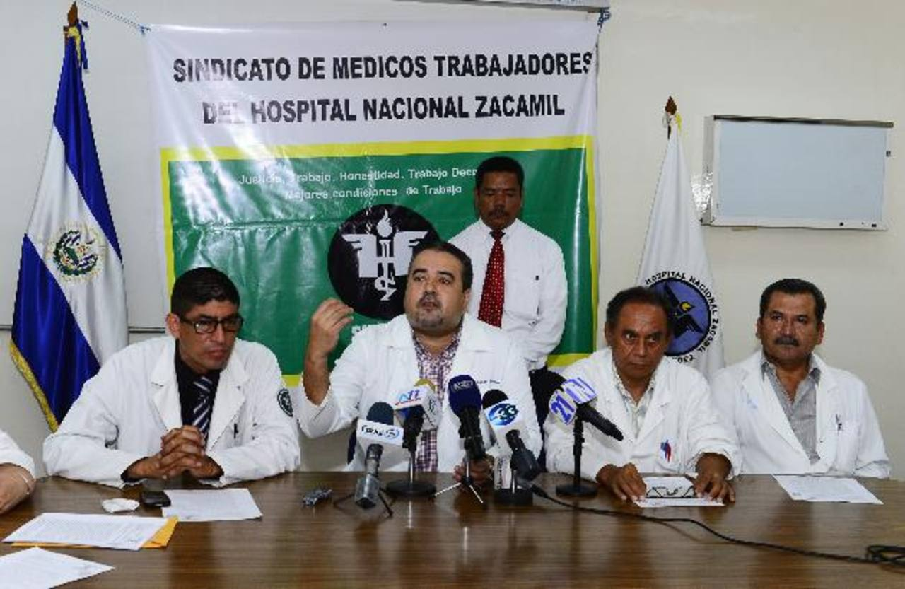 Médicos denuncian atropello a los DD. HH. Foto EDH / René estrada