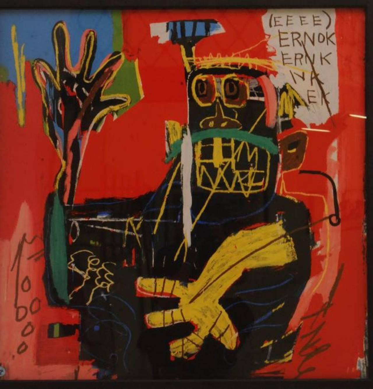 Algunas piezas de serigrafía de Jean Michel Basquiat estarán presentes en la muestra.