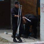 La víctima en San Martín andaba con muletas. Foto EDH / J. López