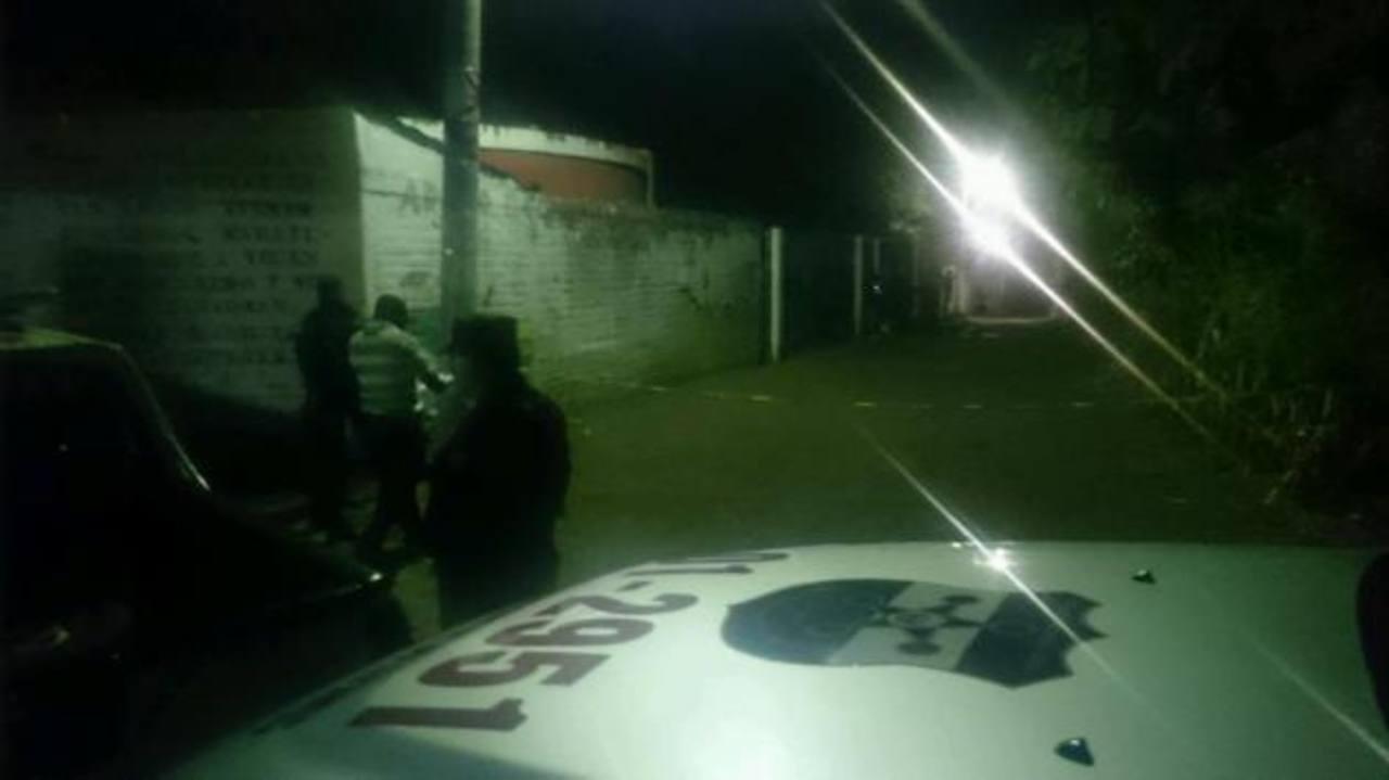 Escena de doble homicidio en Soyapango. /