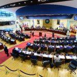 Los diputados, excepto los de ARENA, dieron sus votos para más deuda en la plenaria del jueves por la noche. Foto EDH / archivo