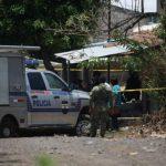 Escena de policías asesinado en San Luis Talpa. /