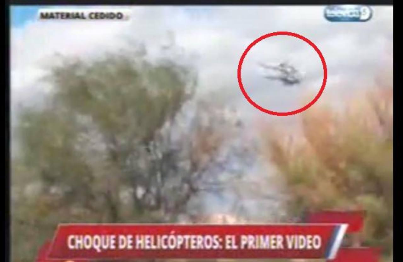 Revelan impactante video del choque de helicópteros en Argentina