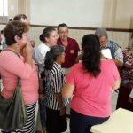 Un grupo de sobrevivientes de cáncer de piel reunidos en el hospital Rosales