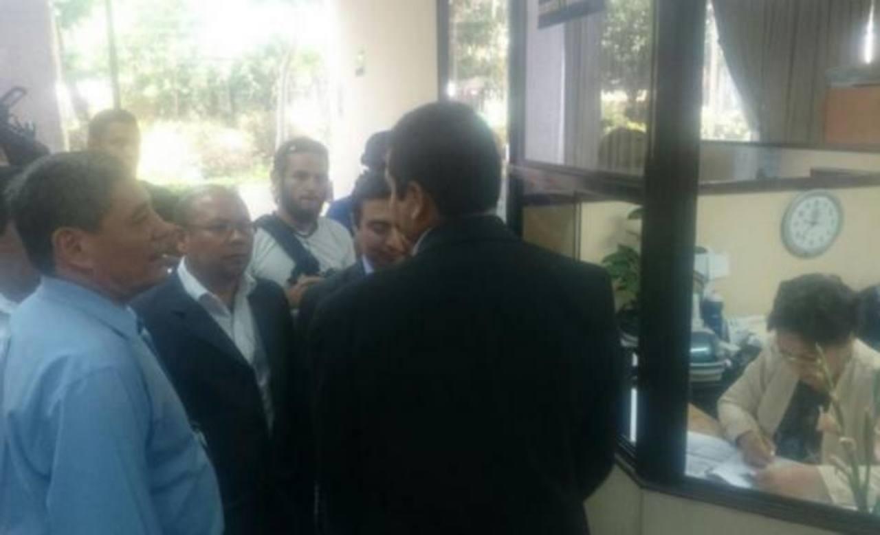 Genaro Ramírez en la Sala de lo Constitucional de la Corte Suprema de Justicia (CSJ)