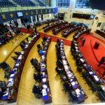 La Asamblea Legislativa intentará en la respuesta que dará a la Sala de lo Constitucional justificar que la votación del decreto de los $900 millones en bonos se realizó apegado a la Constitución y el Reglamento Interno de la Asamblea. Foto EDH / arc