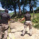 Dos presuntos pandilleros murieron al enfrentarse con la PNC en el cantón Guaycume, Apopa.