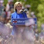 Hillary Clinton ayer durante su discurso. foto edh / AP