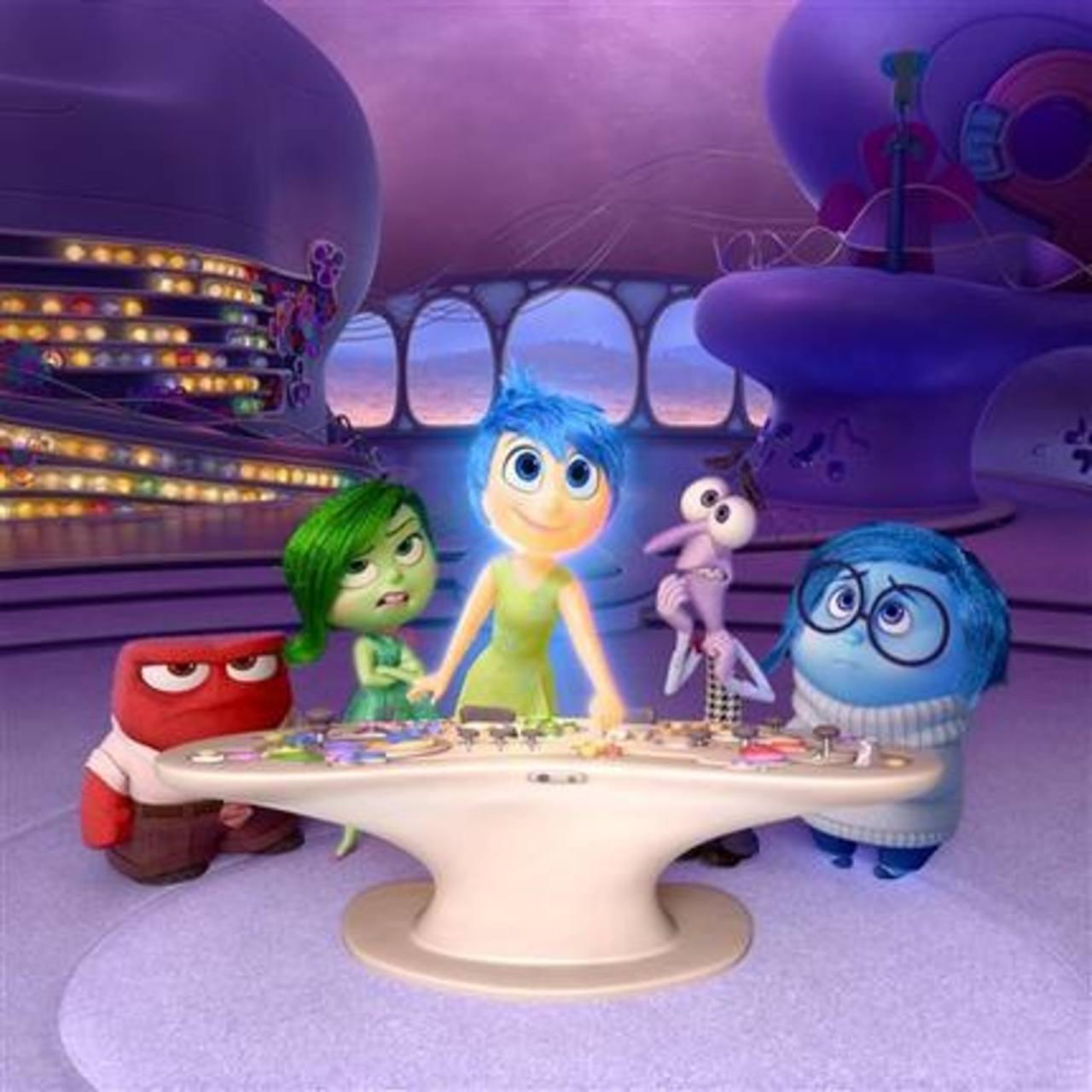 Cada personaje de la película representa una emoción.