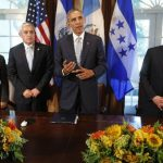 El presidente Barack Obama junto a sus homólogos de El Salvador, Guatemala y Honduras en julio de 2014 cuando trataron la crisis migratoria infantil. Archivo