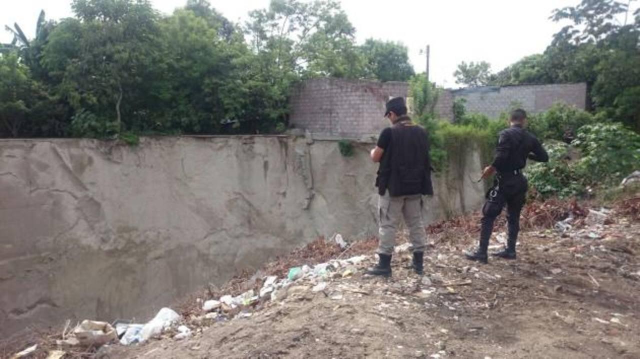 Cárcava en donde encontraron el cuerpo de un hombre en Ilopango.