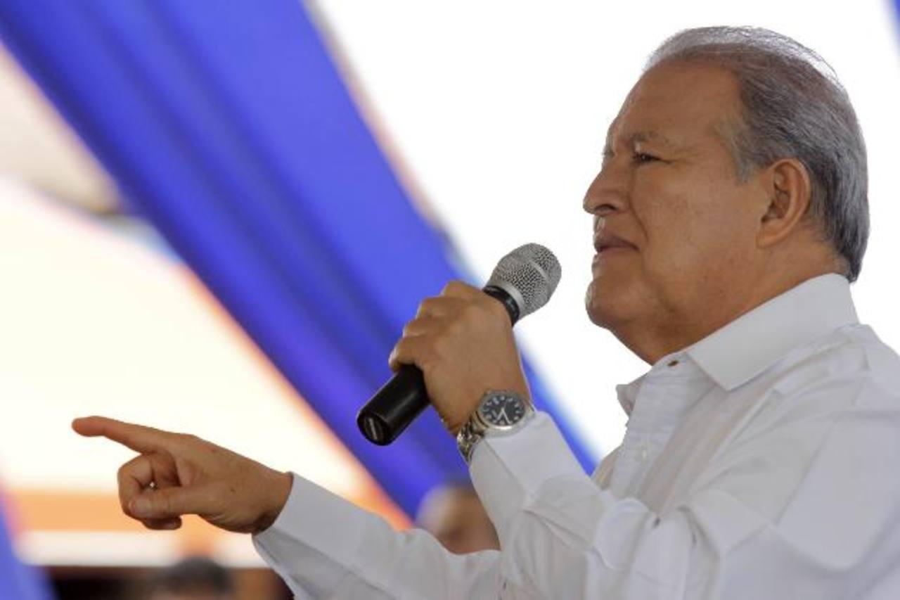 El presidente criticó a la Sala en Nahuizalco, donde los acusó de tener una agenda que responde a los intereses de ARENA.