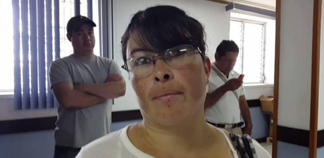 Tirza Menjívar, afectada.