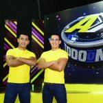 """Héctor Chicas y Ulises Ortiz le ponen su """"toque"""" al programa de concursos """"A todo o nada"""". Foto: René Estrada."""