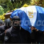 Sepelio de policía ultimado en La Libertad. /