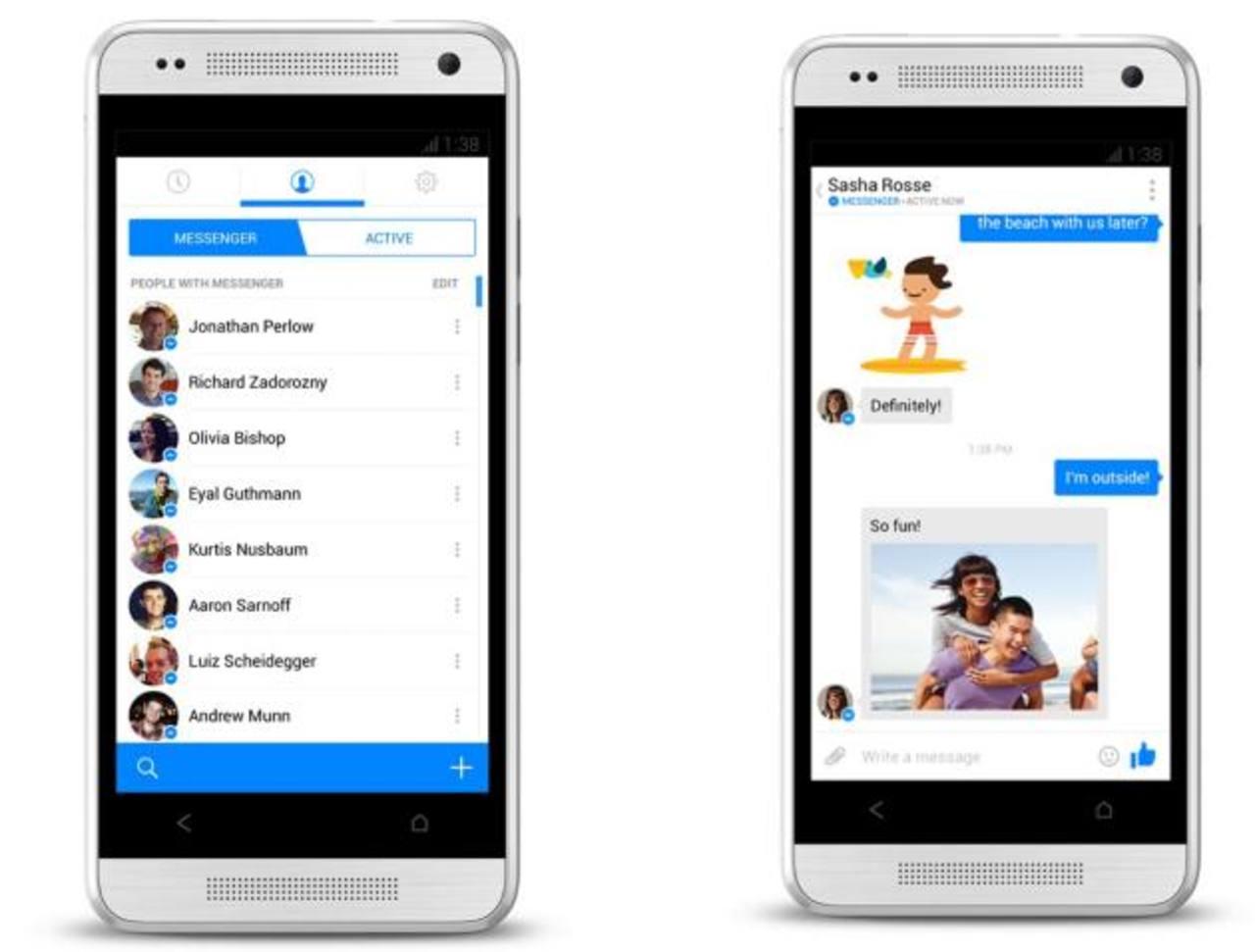 La aplicación de Messenger tenía 700 millones de usuarios mensuales hasta principios de junio, según el creador de Facebook.