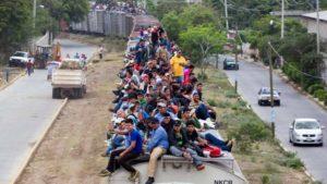 La Bestia, el tren de los inmigrantes para llegar a Estados Unidos. foto edh / internet