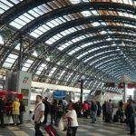 Estación central de trenes en Milán