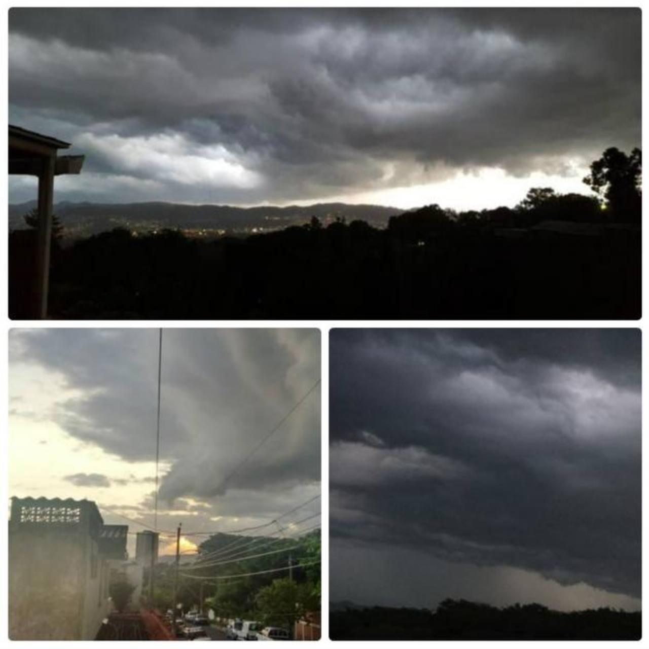 Lectores comparten imágenes previo a la tormenta de esta noche