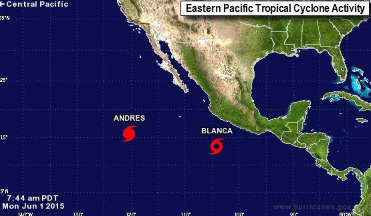 La tormenta Blanca gana fuerza mientras se aleja de costa occidental mexicana