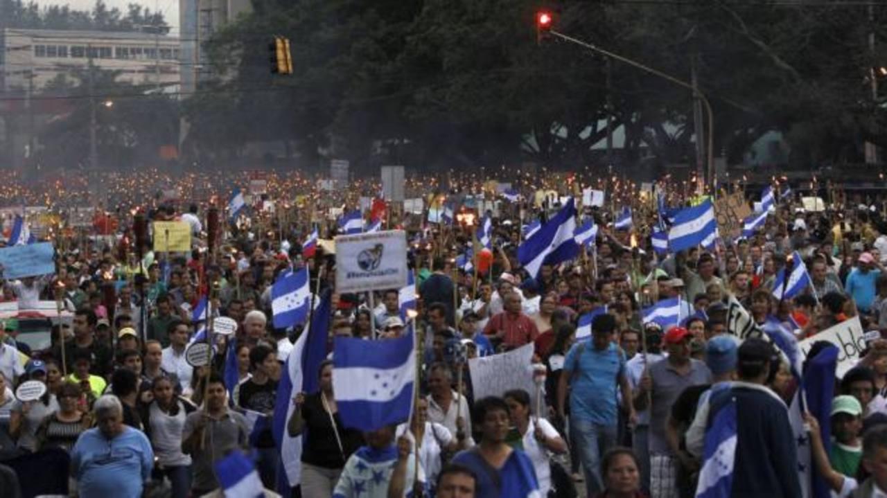 Nueva marcha en rechazo a la corrupción en Honduras