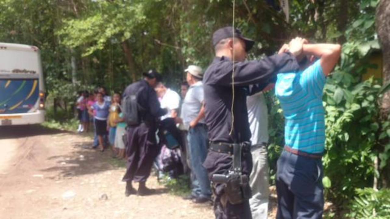 Realizan operativo tras enfrentamiento de pandilleros y policías en Morazán
